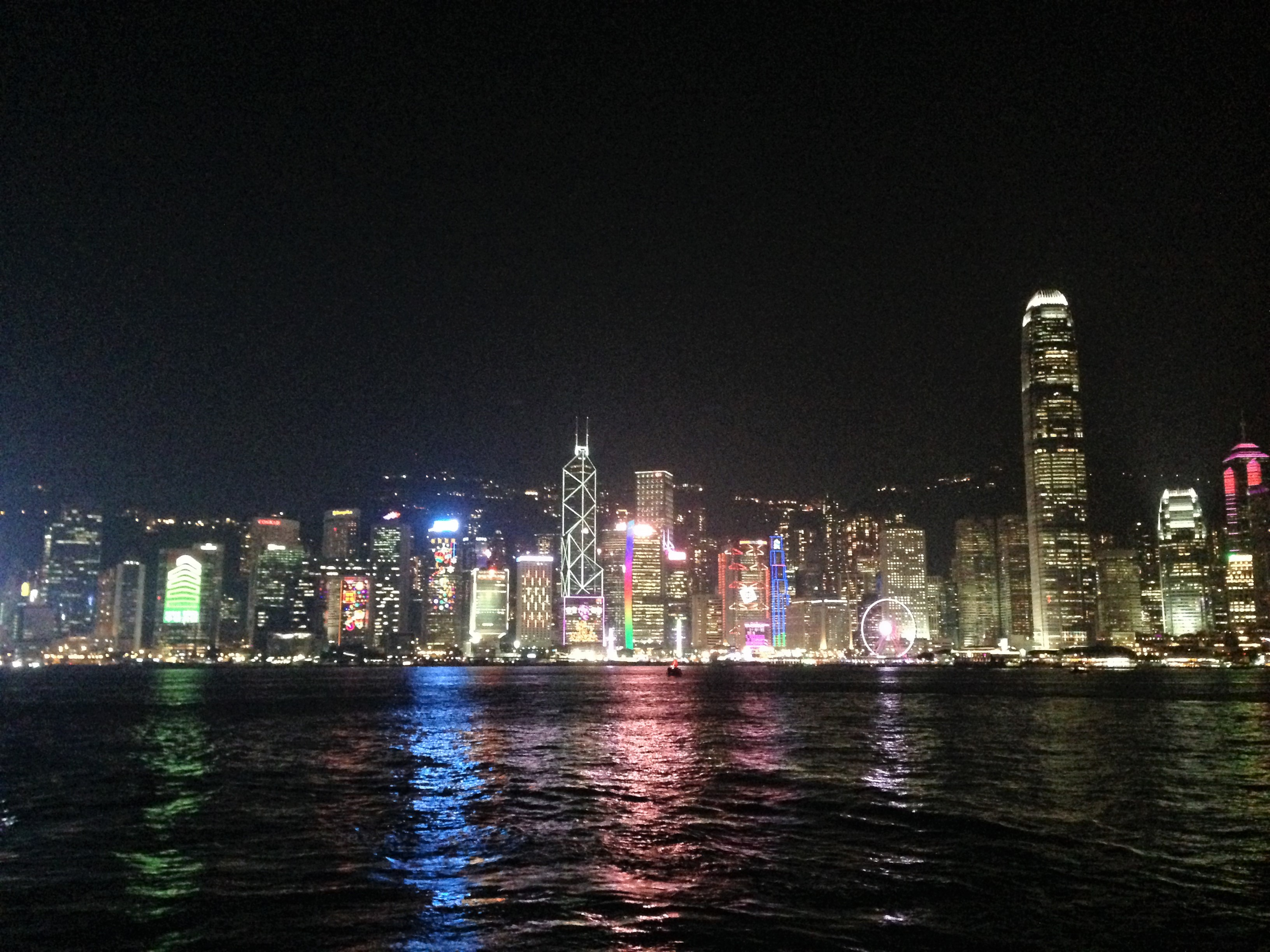 simphony of lights hong kong skyline